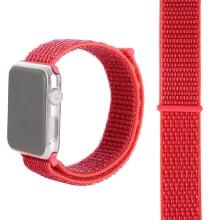 Řemínek pro Apple Watch 40mm Series 4 / 5 / 6 / SE / 38mm 1 / 2 / 3 - nylonový - červený