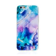 Kryt BABACO pro Apple iPhone 6 / 6S - gumový - mlhovina - růžový / modrý