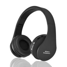 Sluchátka Bluetooth bezdrátová NX-8252 - mikrofon + ovládání - 3,5mm jack vstup - černá