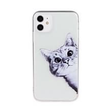 Kryt pro Apple iPhone 11 - gumový - průhledný / kotě
