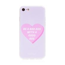 "Kryt BABACO pro Apple iPhone 7 / 8 / SE (2020) - gumový - srdce "" zlobivá holka"""