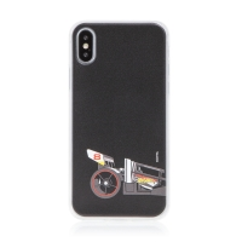 Kryt HOT WHEELS - pro Apple iPhone X / Xs - gumový - formule - černý