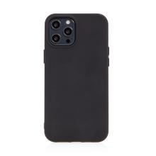 Kryt pro Apple iPhone 12 Pro Max - příjemný na dotek - silikonový - černý