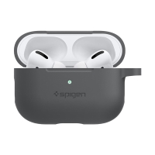 Pouzdro / obal SPIGEN pro Apple AirPods Pro - s karabinou - silikonové - uhlově černé