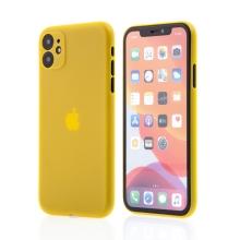 Kryt pro Apple iPhone 11 - s prvkem pro ochranu skla kamery - plastový - žlutý