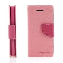 Ochranné pouzdro pro Apple iPhone 5C Mercury Goospery se stojánkem a prostorem pro umístění platebních karet - růžové