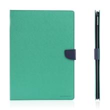 Pouzdro MERCURY Fancy Diary pro Apple iPad Pro 12,9 - stojánek a prostor na doklady - tyrkysové / modré