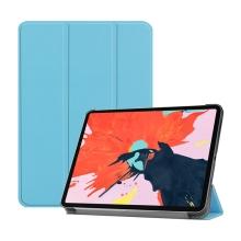 """Pouzdro / kryt pro Apple iPad Pro 12,9"""" (2018) - funkce chytrého uspání + stojánek - umělá kůže - modré"""