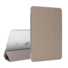 """Pouzdro / kryt pro Apple iPad Pro 11"""" (2018) - funkce chytrého uspání + stojánek - zlaté / průsvitná záda"""