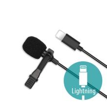 Mikrofon XO pro Apple iPhone / iPad / iPod- externí - klipový - Lightning - černý