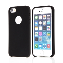 Kryt pro Apple iPhone 5 / 5S / SE - gumový - příjemný na dotek - výřez pro logo - černý