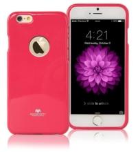 Kryt Mercury pro Apple iPhone 6 Plus / 6S Plus gumový s výřezem pro logo - jemně třpytivý - růžový