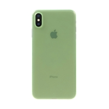 Kryt / obal pro Apple iPhone Xs Max - ochrana čočky - ultratenký - plastový - matný - zelený