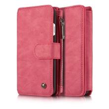 Pouzdro CASEME pro Apple iPhone 7 / 8 / SE (2020) - peněženka + kryt - prostor na doklady - červené