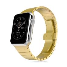 Řemínek pro Apple Watch 44mm Series 4 / 5 / 42mm 1 2 3 - ocelový - zlatý