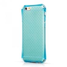 Gumový kryt HOCO pro Apple iPhone 6 / 6S - průhledný s tečkami - modře probarvený