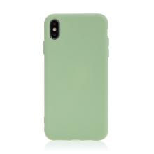 Kryt pro Apple iPhone Xs Max - příjemný na dotek - silikonový - zelený