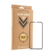Tvrzené sklo (Tempered Glass) Tactical pro Apple iPhone 13 mini - černý rámeček - anti-blue-ray - 5D