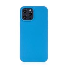 Kryt pro Apple iPhone 12 / 12 Pro - gumový - příjemný na dotek - modrý