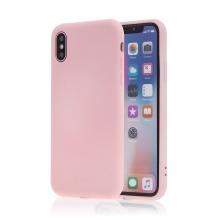 Kryt SWISSTEN Soft Joy pro Apple iPhone X / Xs - příjemný na dotek - silikonový - růžový
