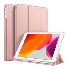 """Pouzdro / kryt DUX DUCIS pro Apple iPad 10,2"""" (2019) - funkce chytrého uspání + stojánek - Rose Gold"""