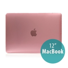 Tenký plastový obal / kryt pro Apple MacBook 12 Retina (rok 2015) - lesklý - růžový