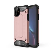 Kryt pro Apple iPhone 11 - odolný - plastový / gumový - Rose Gold růžový