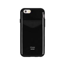 Kryt Mercury pro Apple iPhone 6 Plus / 6S Plus - plasto-gumový - prostor pro umístění platební karty - černý
