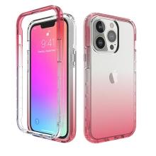 Kryt pro Apple iPhone 13 Pro - gumový - průhledný / růžový