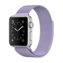 Řemínek pro Apple Watch 41mm / 40mm / 38mm - nerezový - fialový