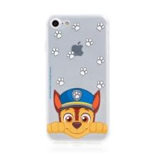 """Kryt """"Tlapková patrola"""" pro Apple iPhone 7 / 8 / SE (2020) - gumový - Chase - průhledný"""