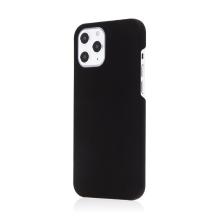 Kryt pro Apple iPhone 12 / 12 Pro - plastový - měkčený povrch - černý