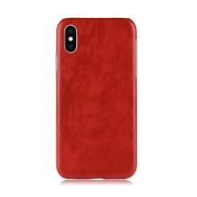 Kryt pro Apple iPhone Xr - pevný - plastový / umělá kůže - červený