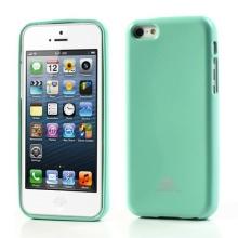Gumový kryt Mercury pro Apple iPhone 5C - jemně třpytivý - světle zelený