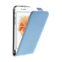 Pouzdro pro Apple iPhone 6 / 6S - flipové - kožené - modré