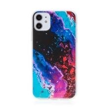 Kryt BABACO pro Apple iPhone 11 - gumový - abstraktní vlnky