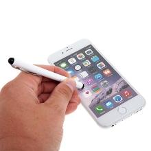 Kovové dotykové pero / stylus pro Apple iPhone / iPad / iPod - bílé