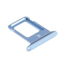 Rámeček / šuplík na Nano SIM pro Apple iPhone Xr - modrý (Blue) - kvalita A+