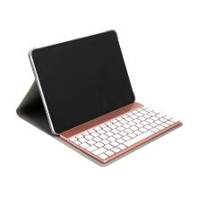 """Klávesnice Bluetooth odnímatelná + kryt / pouzdro pro Apple iPad Pro 11"""" - Rose Gold / černá"""