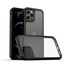 Kryt IPAKY pro Apple iPhone 13 Pro Max - plastový / gumový - průhledný / černý