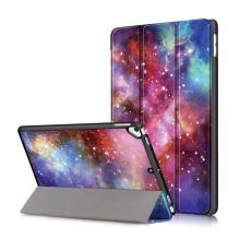 """Pouzdro pro Apple iPad Pro 10,5"""" / Air 3 (2019) / 10,2"""" (2019-2020) - funkce chytrého uspání + stojánek - plastová záda - galaxie"""