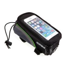 Sportovní pouzdro na kolo ROSWHEEL pro Apple iPhone 4 / 4S 5 / 5C / 5S / SE - černé / zelené