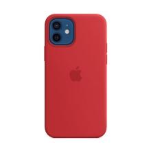 Originální kryt pro Apple iPhone 12 / 12 Pro - silikonový - červený