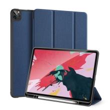 Pouzdro DUX DUCIS Domo pro Apple iPad Pro 12,9 (2018) / 12,9 (2020) - stojánek - tmavě modré
