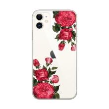 Kryt BABACO pro Apple iPhone 11 Pro Max - gumový - průhledný - růže