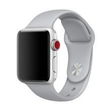 Řemínek pro Apple Watch 44mm Series 4 / 5 / 6 / SE / 42mm 1 / 2 / 3 - velikost M / L - silikonový - šedý