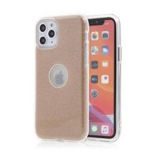 Kryt FORCELL Shining pro Apple iPhone 11 Pro - výřez pro logo - plastový / gumový - zlatý