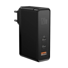 Nabíječka / adaptér BASEUS pro Apple iPhone / iPad / MacBook - 2x USB-C + USB - 120W + USB-C kabel - černá