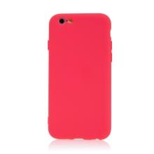 Kryt pro Apple iPhone 6 / 6S - příjemný na dotek - silikonový - růžový