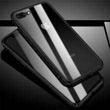 Kryt pro Apple iPhone 7 Plus / 8 Plus - 360° ochrana - magnetické uchycení - skleněný / kovový - stříbrný